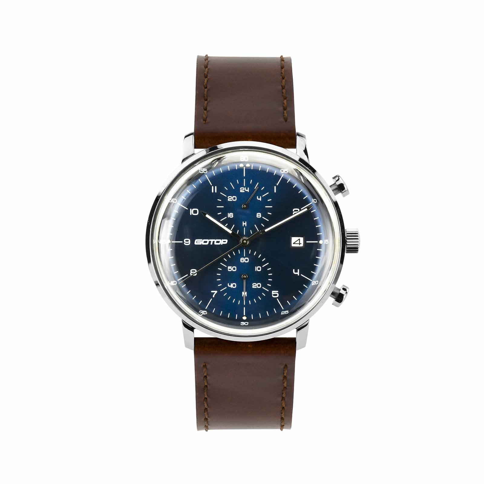 Men's Blue Dial Chronograph Watch