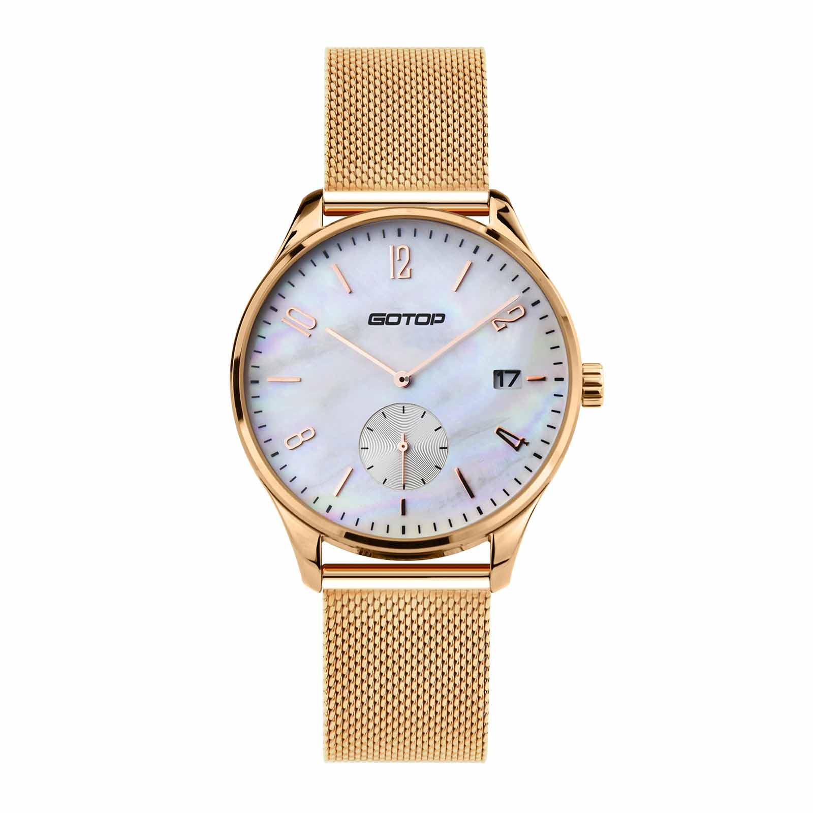 Mens Rose Gold Quartz Watch