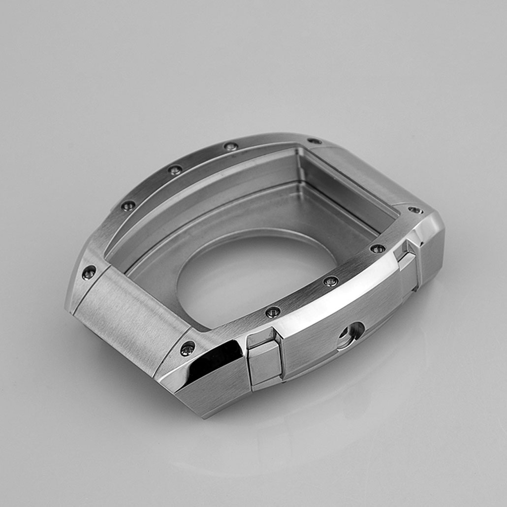 WC045 Rectangular Stainless-Steel Watch Case