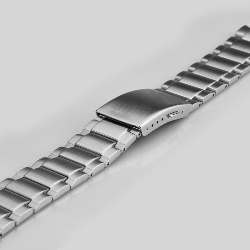 Fine Stainless-steel Watch Bracelet In Silver Finish